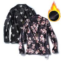 冬季女装新品 韩版碎花金光绒打底衫加绒卫衣女长袖上衣