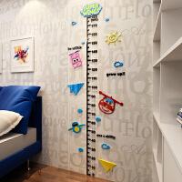 卡通超级飞侠3d立体墙贴宝宝测量身高贴儿童房墙面装饰可移除贴纸