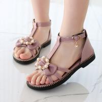 女童凉鞋新款夏季时尚儿童中大童罗马平底小公主鞋子