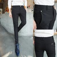 男士弹力小脚裤潮流韩版紧身显瘦夜店发型师裤子修身型西裤