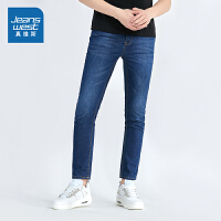 [满减参考价:125.4元,满减最高可减200元,仅限12.4-5]真维斯男装 2019秋装 弹力修身雨纹牛仔裤