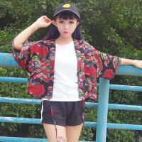 2018夏季女装新款韩版学生复古日系和服百搭开衫披肩式短款外套潮