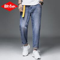 Lee Cooper2020春夏季新款宽松百搭韩版潮流大码哈伦裤子猫须休闲男式牛仔裤