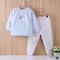 小象逗叮 可爱印花套头圆领加厚男女宝宝小童棉衣 婴幼儿棉袄套装