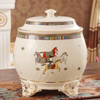 欧式陶瓷米缸有盖米桶储米箱油缸储罐容量10斤20斤厨房用品