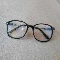 复古平光镜大框金属文艺眼镜框男女潮大脸可配近视眼镜架素颜