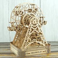 立体拼图木质机械传动拼装模型益智玩具