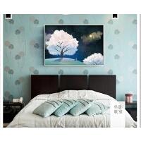 仰望星空风景DIY卧室装饰十字绣