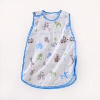 龙之涵纯棉纱布婴儿睡袋夏凉透气背心睡袋