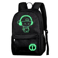 小中学生书包1-3-6年级儿童USB韩版双肩背包6-12周岁发光