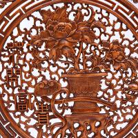 木雕 中式仿古挂件方形家居饰品福字 壁挂 实木镂空雕刻60cm