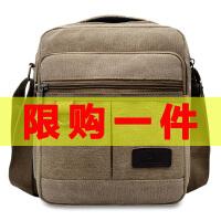 帆布包挎包男小背包斜跨男士商务小包包休闲手提男包单肩斜挎包