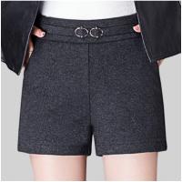 秋冬新款弹力松紧高腰修身显瘦女士西装休闲短裤外穿打底妈妈裤