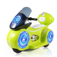 儿童三轮童车带灯光音乐小孩充电瓶车玩具电动摩托车宝宝可坐