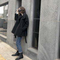 棉衣外套女冬季外衣短款轻薄款黑色小棉袄羽绒服冬装 黑色