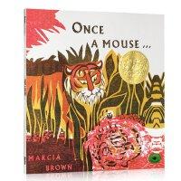 【全店300减100】英文原版 Once a Mouse 凯迪克金奖 绘本图画书 Marcia Brown
