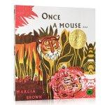 英文原版 Once a Mouse 凯迪克金奖 绘本图画书 Marcia Brown
