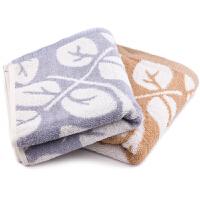 三利 毛巾家纺 树叶纯棉毛巾 两条装