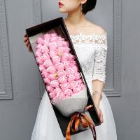 三八妇女节礼物玫瑰花束送女友生日香皂花礼盒永生花康乃馨惊喜的节日礼品