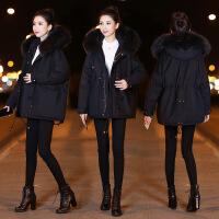 韩国超大毛领羽绒服女中长款2018冬季新款宽松韩版修身加厚时尚潮