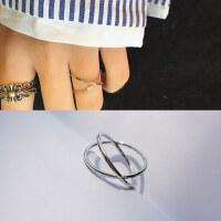 戒指女日韩潮人学生个性网红尾戒小指食指简约指环关节情侣紧箍咒