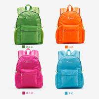 双肩包女2019新款折叠皮肤包超轻薄款学生书包便携防水旅行背包