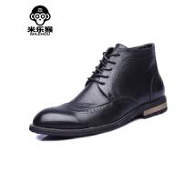米乐猴 潮牌英伦男士马丁靴男靴雕花高帮靴复古时尚休闲男鞋潮流靴男鞋