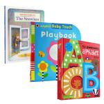 宝宝多元认知启蒙3册 英文原版3册纸板书My Awesome Alphabet Book ABC儿童字母启蒙书Baby