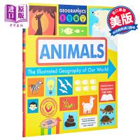【中商原版】地球上的地理:动物 The Illustrated Geography of Our World:Anima