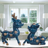 欧式鹿摆件 时尚可爱俏皮儿童书房卧室创意家居装饰品摆设