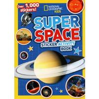 【秒��r¥29.9】英文原版 National Geographic Kids Super Space Sticker