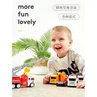 宝宝玩具车男孩回力车惯性车工程车小汽车挖土机套装