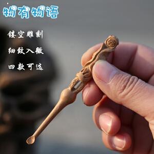 物有物语 木质挖耳勺 桃木雕刻儿童挖耳采耳耳扒工具 个人耳屎清洁耳掏