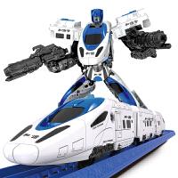金刚和谐号机器人高铁小火车套装电动轨道车男孩玩具