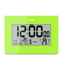 电子挂钟客厅led大数字日历钟家用卧室静音带温度计万年历台钟表 其他