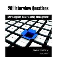 【预订】201 Interview Questions - SAP Supplier Relationship