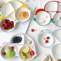 儿童餐盘分格卡通宝宝餐具陶瓷创意盘子可爱家用汽车盘野炊/烧烤