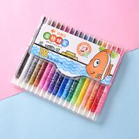 小鱼儿6622重彩油画棒 塑料美术用品绘画工具套装炫彩棒蜡棒蜡笔