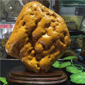 天然黄蜡石原石摆件CCO(A155#)