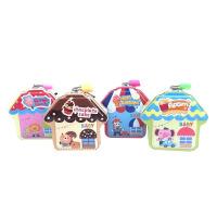 可爱小房子儿童卡通存钱罐幼儿园创意礼物定制马口铁储蓄罐收纳盒