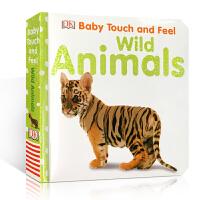 英文原版绘本 Wild Animals 野生动物 触摸纸板书 3-6岁儿童学习英语启蒙辅导训练故事图画书籍亲子阅读正版