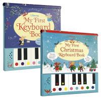 英文原版 春节礼物书 My First Christmas Keyboard Book 2本 精装每本包含9首童谣儿歌