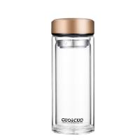玻璃杯双层大容量加厚透明隔热便携随手杯车载过滤耐热泡茶杯杯子