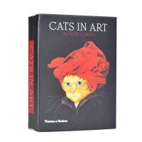 Cats in Art: Box of 20 Notecards二十张明信片 猫咪的艺术,世界名画中的猫
