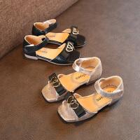 夏季新款水钻圆环女童凉鞋公主鞋宝宝沙滩鞋儿童鞋子
