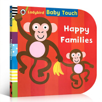 英文原版 Baby Touch: Happy Families宝宝触摸书:快乐家庭 儿童启蒙大开本纸板书 宝宝感官认知