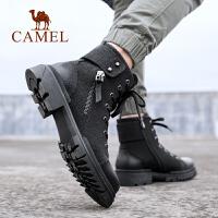 骆驼2019新款秋冬保暖绒里休闲工装马丁靴百搭舒适机车潮靴