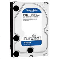 WD/西部数据 蓝盘 2TB SATA3 64M 3.5英寸台式机硬盘 WD20EZRZ 单碟1TB