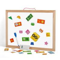 幼儿童画画板磁性小黑板家用涂鸦板宝宝彩色写字板1-3岁早教智力