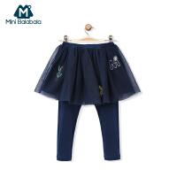 【1件5折】迷你巴拉巴拉女童裤子女宝宝假两件裙裤打底裤儿童秋装裤子